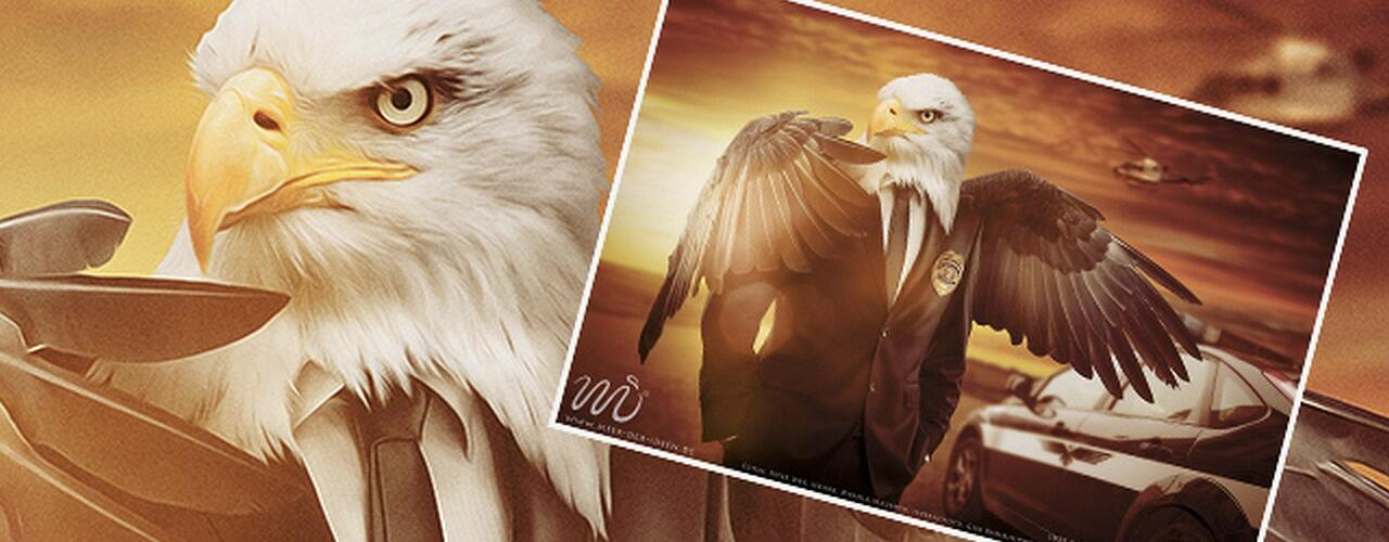 Der Adler: Photoshop Composing by Marco Kolditz