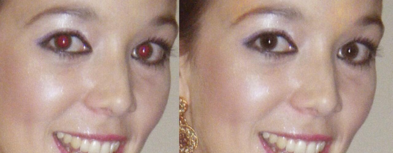 Photoshop-Videotutorial: Rote Augen entfernen & verhindern